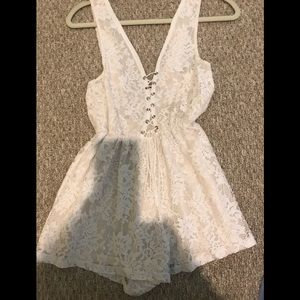 Other - White lace romper from LF store size XS